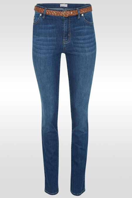Rechte jeans met riem - Denim