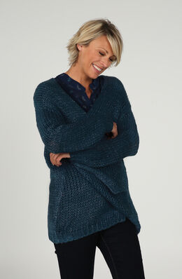 Losse cardigan, Emerald groen