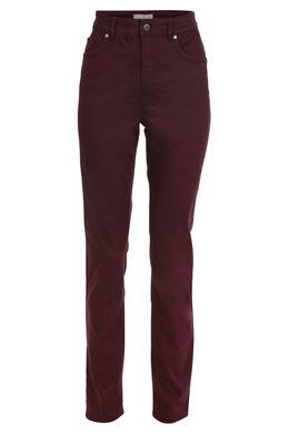 Pantalon taille haute slim, Prune