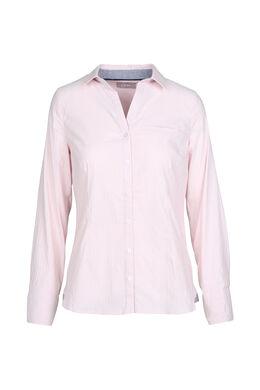 Gestreept hemd met reliëfborduurwerk, Blush