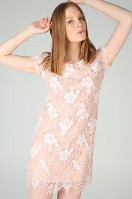 Robe dentelles fleurs, Nude