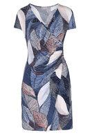Wikkeljurk in tricot, Marineblauw