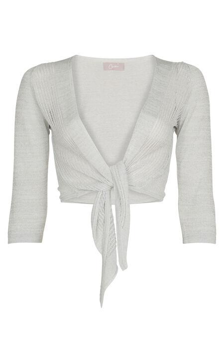 Bolero in glanzend tricot - Wit