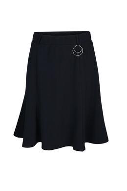 Uitlopende rok in tricot, Marineblauw
