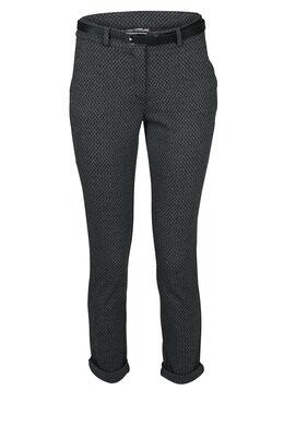 Geklede broek met minimalistische print, Antraciet