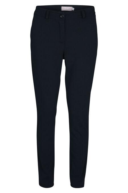 Broek in dik tricot - Marineblauw