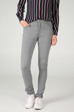 Broek in jeans, Grijs