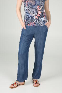 Soepele broek met jeanslook, Denim