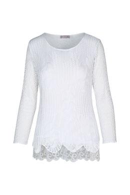 Tunique en fils crochetés, Blanc