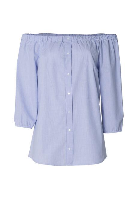 Tuniek met blote schouders - Blauw