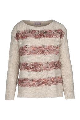 Tweekleurige trui met wol, Oudroze