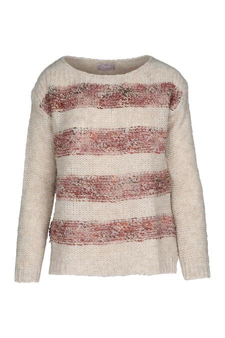 Pull bicolores à teneur en laine - Vieux rose