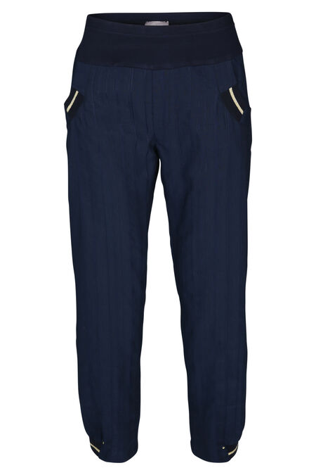 Pantalon en relief - Marine