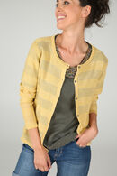 Cardigan in lurextricot, Geel