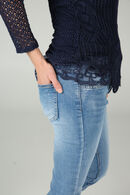 Jeans slim avec strass, Denim
