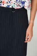 Rok in gestreept tricot, Marineblauw