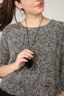 Sweater in warm tricot, Grijs
