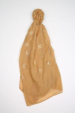 Foulard met zwaluwprint, Mosterdgeel