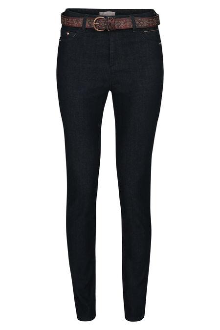 Donkere slim jeans - Donker denim