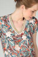 Combinaison imprimé tropical, multicolor