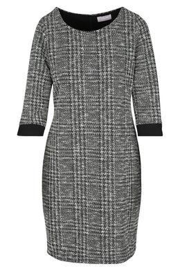 Robe maille chaude détail lurex, Noir/Ecru