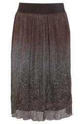 Halflange rok met lurex