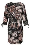 Robe imprimé baroque, Noir
