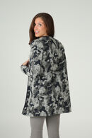 Mantel met camouflageprint, Marineblauw