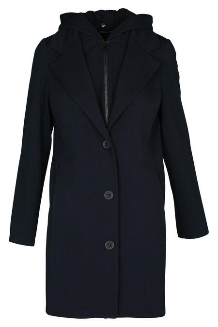Manteau à capuche - Marine