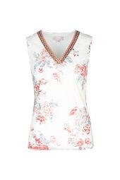 T-shirt en dentelle imprimé fleuri
