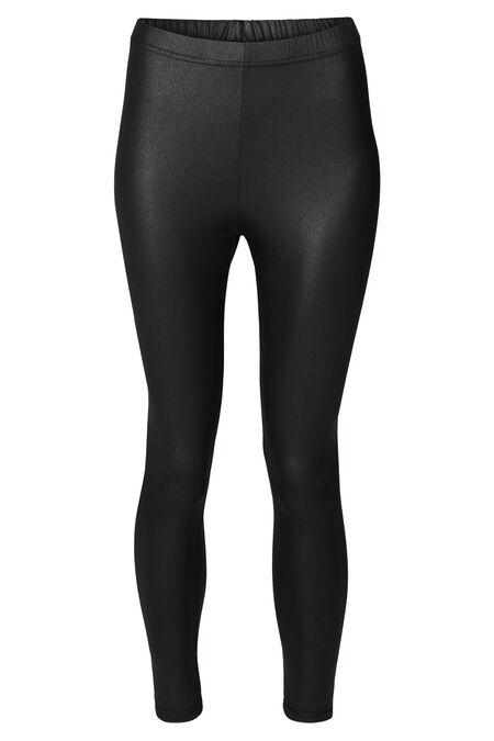 Legging long faux cuir - Noir