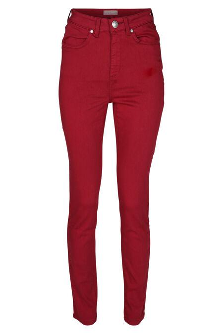 Pantalon slim en coton - Framboise