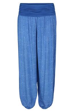 Pantalon fluide bas boule, Bleu royal