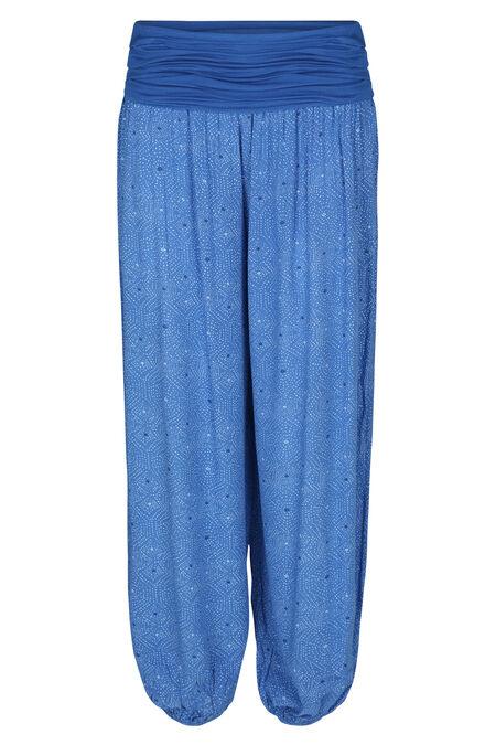 Soepel vallende bolbroek - Koningsblauw