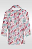 Tuniekhemd met bijpassende sjaal, Appelblauwzeegroen