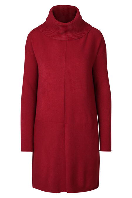 Robe pull col roulé - Rouge