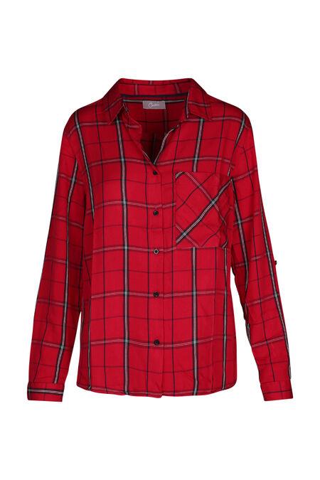 Chemise à carreaux - Rouge