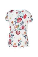 T-shirt imprimé fleurs et gomme, Ecru