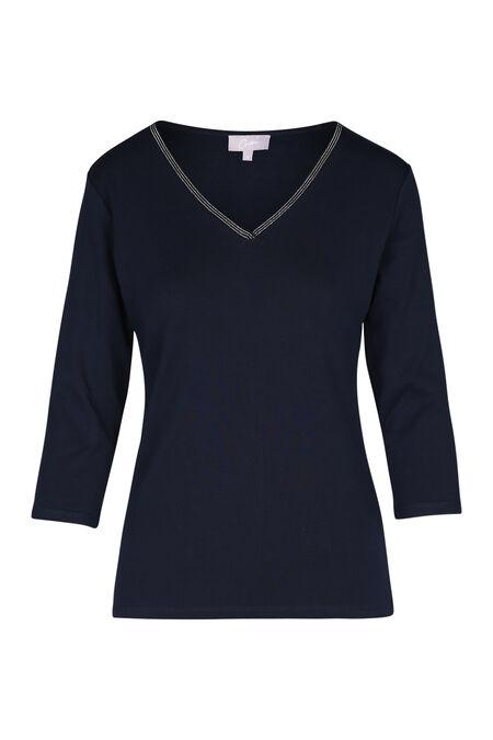 Effen T-shirt - Marineblauw