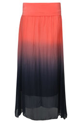 Lange zijden tie & dye rok