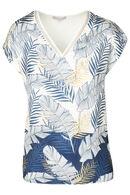 T-shirt imprimé feuilles de palmier, Marine