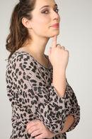 Shirt met luipaardprint, Oudroze