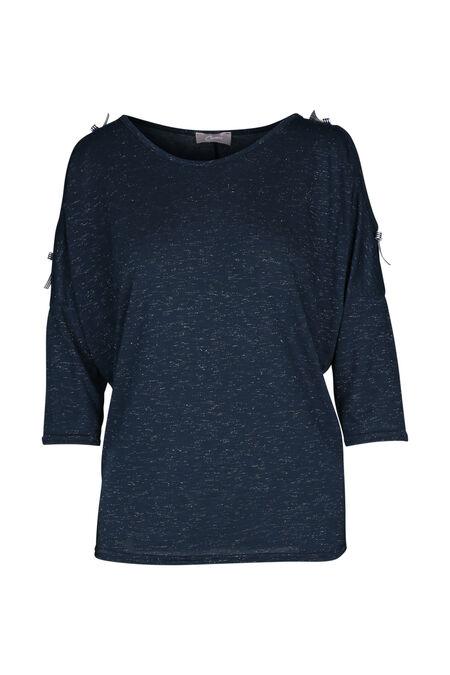 T-shirt met strikjes - Marineblauw