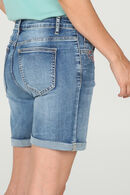 Short en jeans avec broderies, Denim