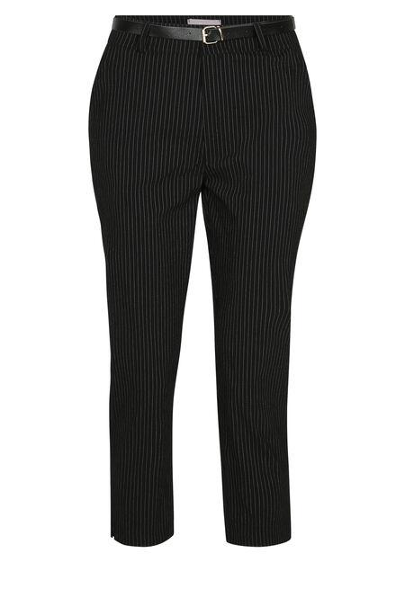Pantalon stretch imprimé rayures - Noir