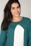 Cardigan met opengewerkt hart op de rug, Emerald groen