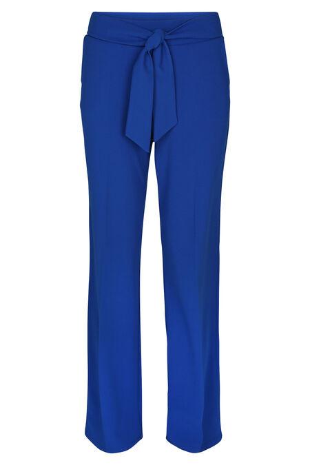 Brede broek met riem - Koningsblauw