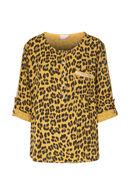 Tuniek met luipaardprint, Oker