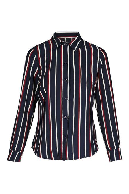Chemise lignée - Marine