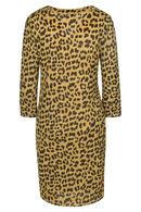 Robe maille imprimé léopard, Ocre